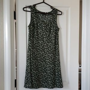 Abercrombie & Fitch green linen sundress